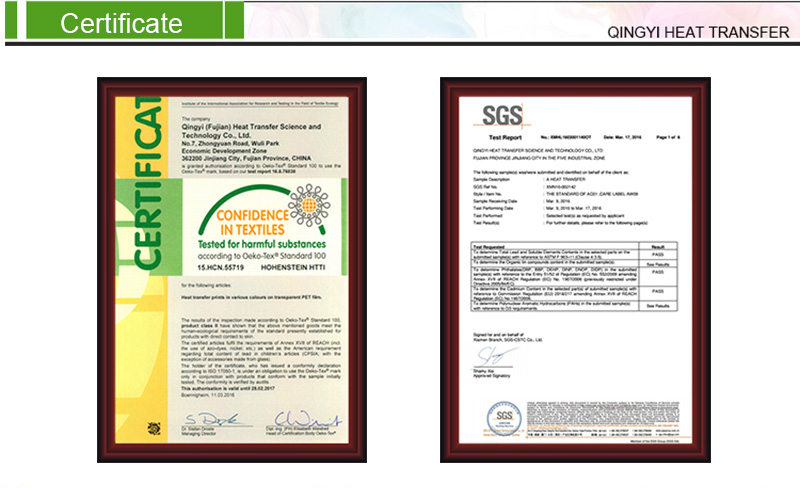 The SGS Environmental Certificate