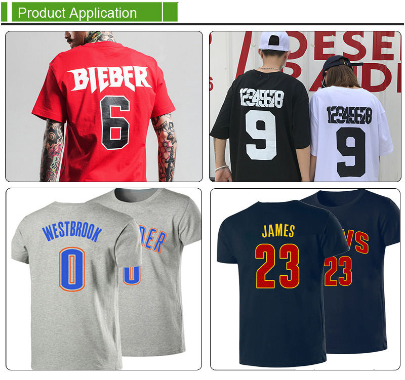 t-shirts printing jersey heat transfer numbers